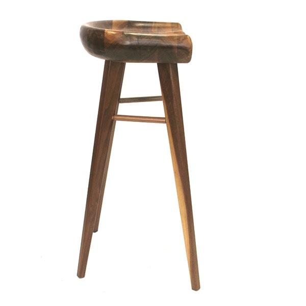 Pleasant Tractor American Walnut Bar Stool Plata Decor Inzonedesignstudio Interior Chair Design Inzonedesignstudiocom